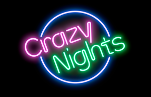 Crazy night logo_svart